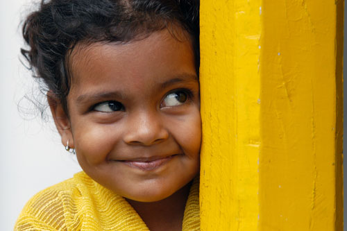 Smiling girl - Bhopal, India