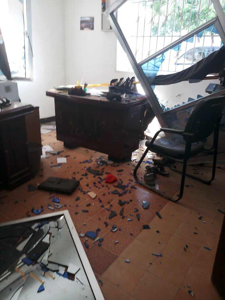 Bomb damaged SOS office