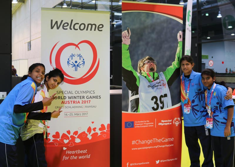 Children from SOS India who will participate in the 2017 Special Winter Olympics
