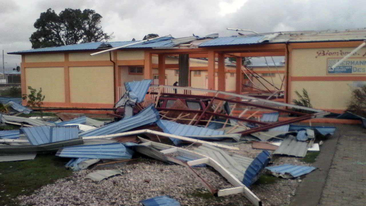 SOS School in Les Cayes affected by Hurricane Matthew