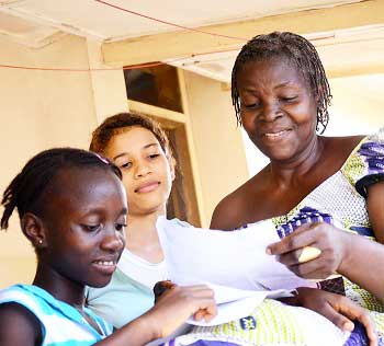 Sponsored children receive letters