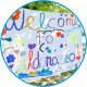 Hand-made welcome banner to Camp Caldonazzo.