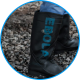 Rubber boots with Ebola written on sides