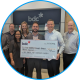Cheque presentation from BDC to SOS  Children's Villages Canada