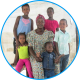 Widow with her six children in Ondangwa, Namibia
