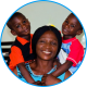 SOS mother with her two sons in Nigeria