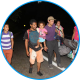 Venezuelan refugee family walking, Colombia