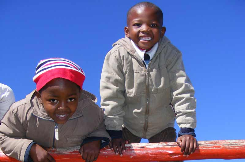 Sponsored children in Lesotho