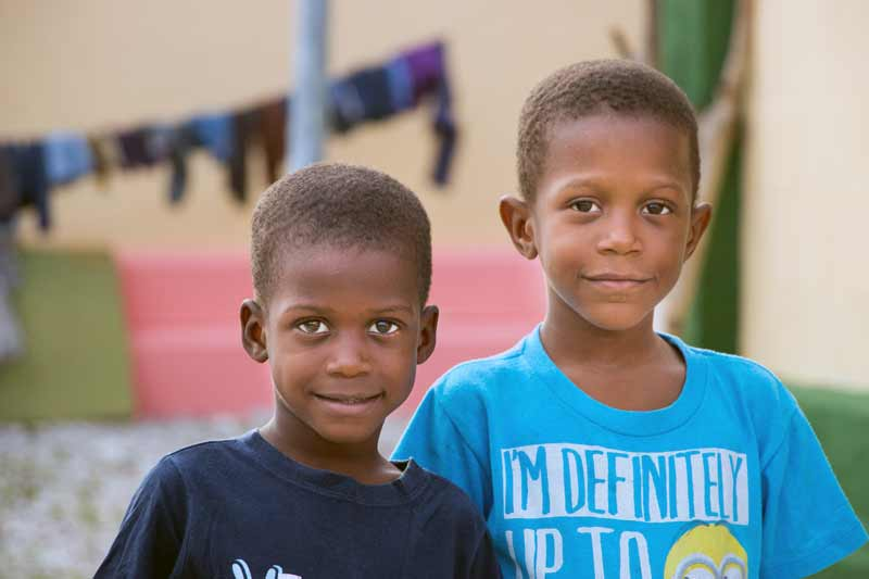 Two brothers in Haiti