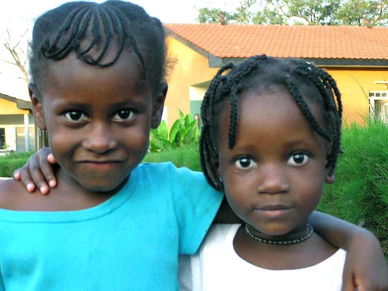 Two girls in Guinea-Bissau