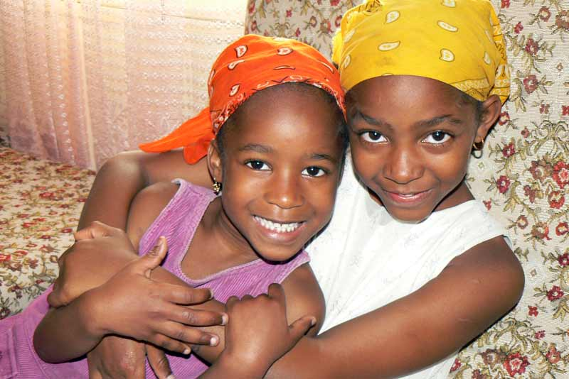 Two sponsored girls in Cape Verde