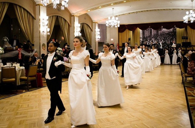 Participants of the Viennese Ball.
