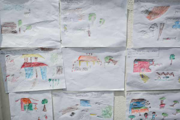 Drawings by children in the aftermath of the Nepal earthquake