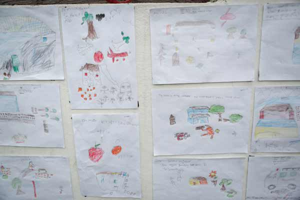 Drawings by children in Nepal after the earthquake